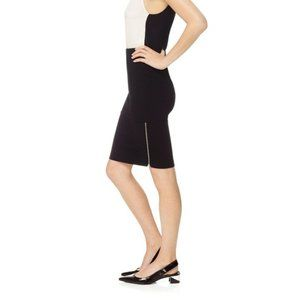 Wilfred Stretch Pencil Skirt with Side Zippers